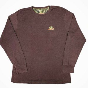 3/$20 Mossy Oak Brown Waffle Knit Thermal Shirt